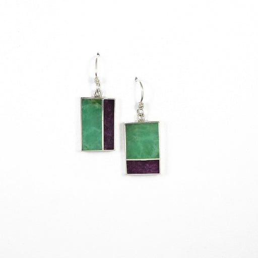 Geometric Inlay Earrings