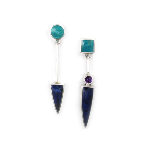 Lapis and Chrysocolla Earrings