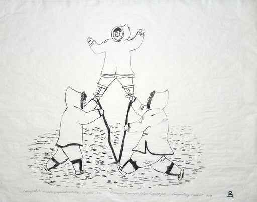 Piliujjartut (Competing Against Each Other) Dry Point Print