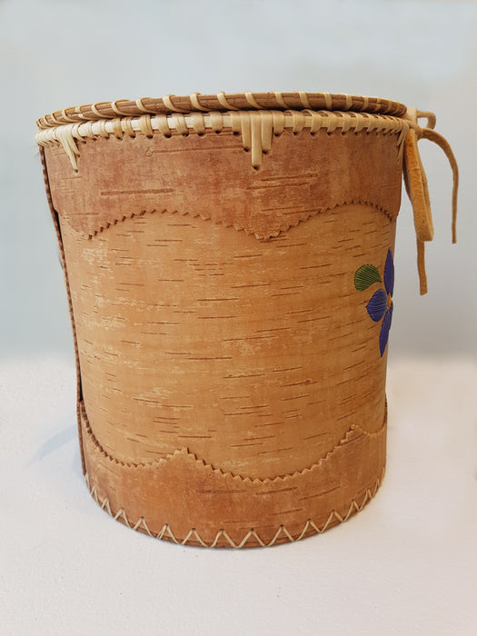 Purple Flower Birch Basket