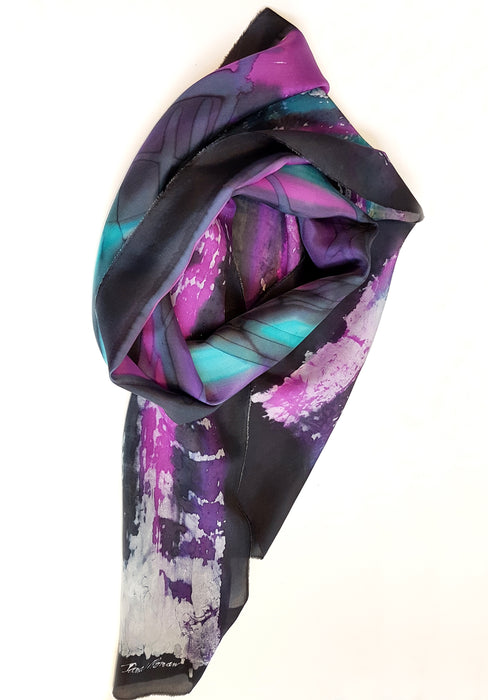 Purple and Turquoise Scarf