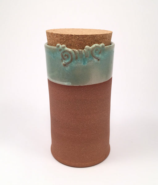 Tall Canister with Cork by Aneela Dias-D'Sousa