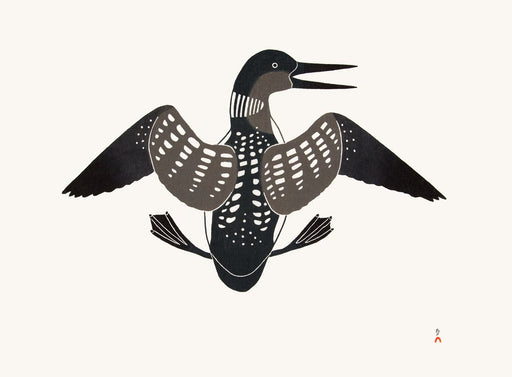 Attempted Flight, 1997 by Kananginak Pootoogook