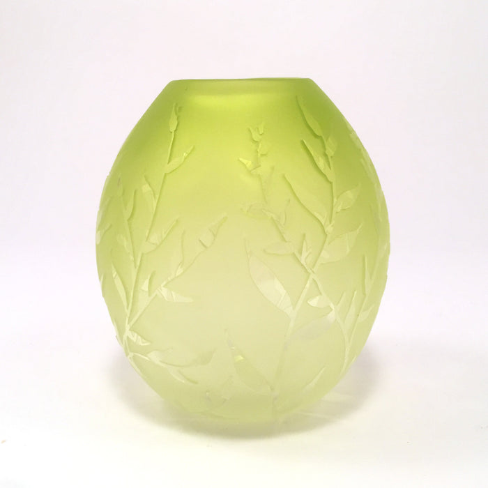 Small Green Vase by Carol Nesbitt