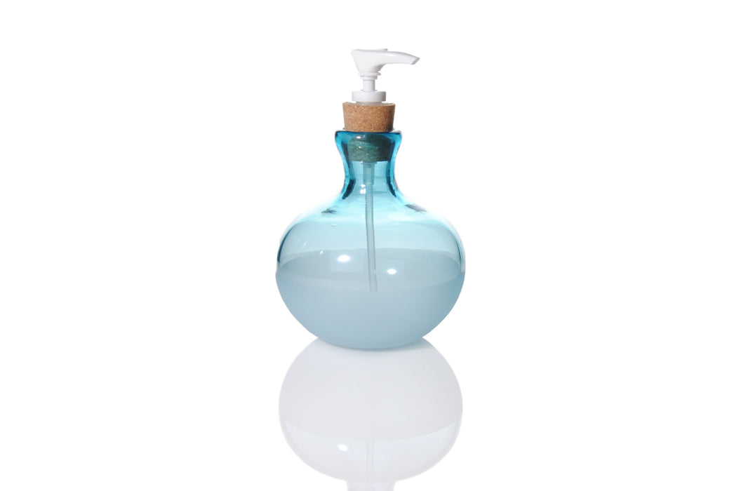 Aqua Soap Dispenser by Courtney Downman