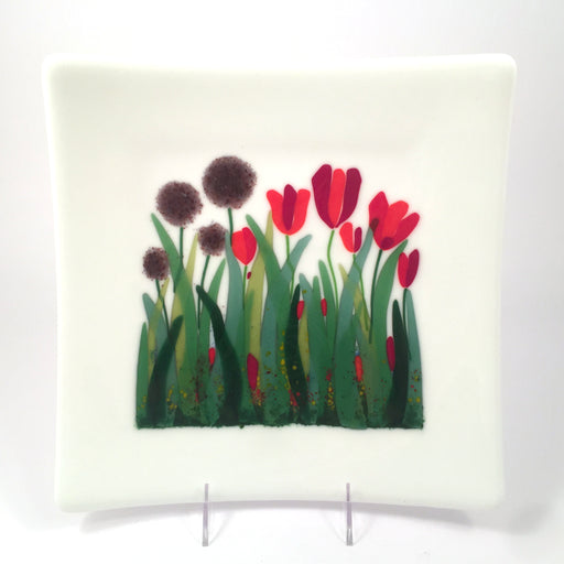 Tulip and Alium Plate by Don McClennen