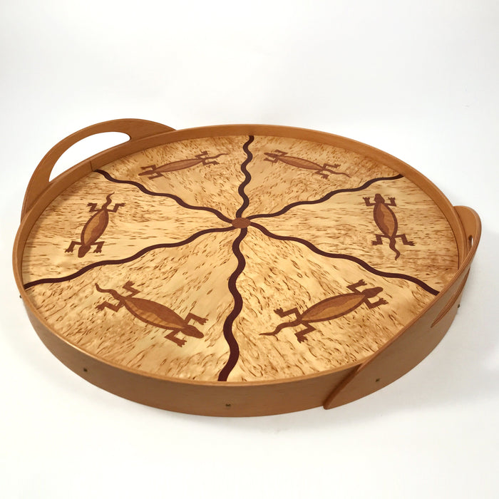 Salamander Inlay Serving Tray