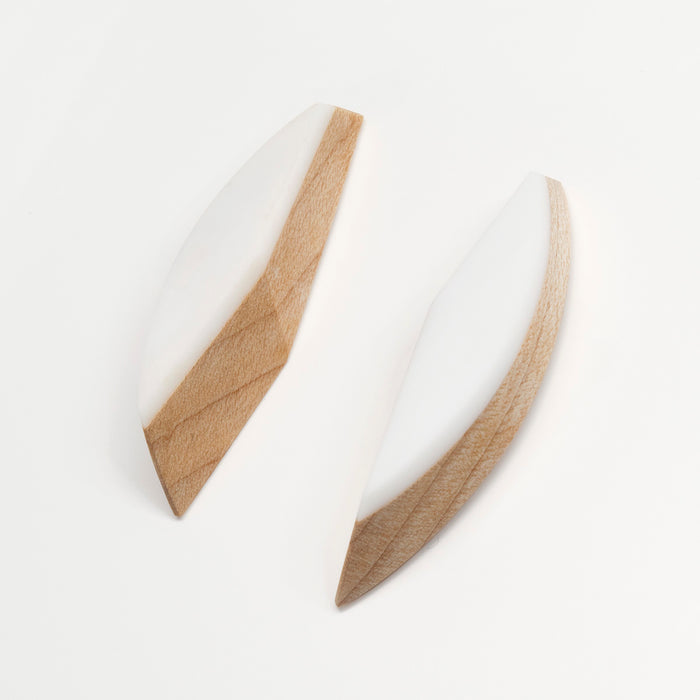 Apollo Earrings - Maple and Resin