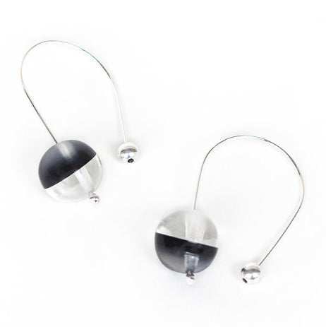 Grey Sphere Earrings