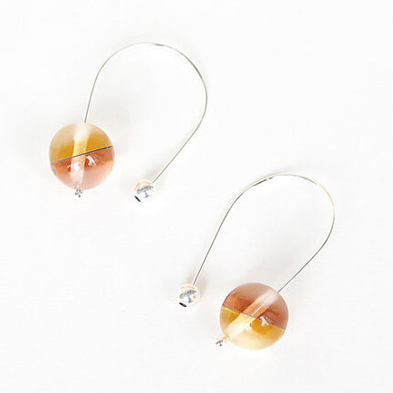 Gold and Rose Sphere Earrings