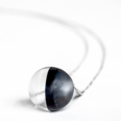 Grey Sphere Pendant