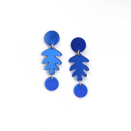 Large Colourful Leaf Earrings