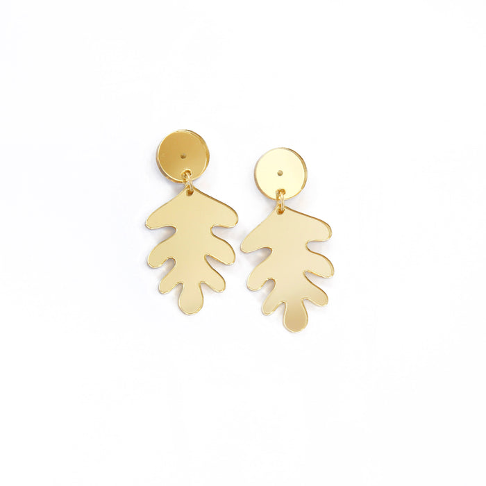 Medium Colourful Leaf Earrings