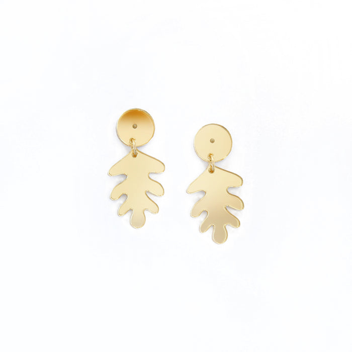 Small Colourful Leaf Earrings