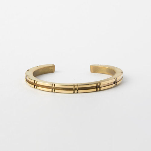 Notched Brass Cuff