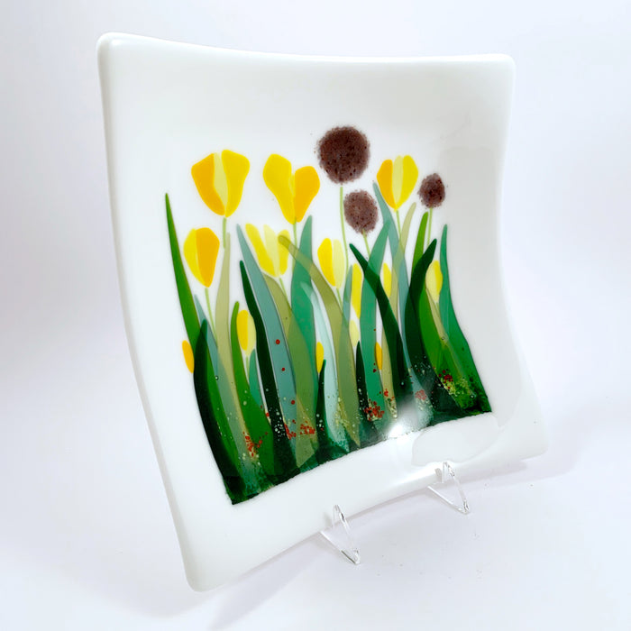Tulip and Allium Plate