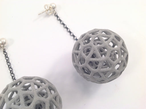 Puzzle Ball Earrings