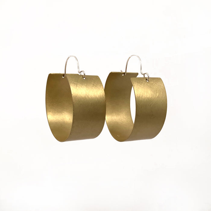 Ebb Brass Hoop Earrings
