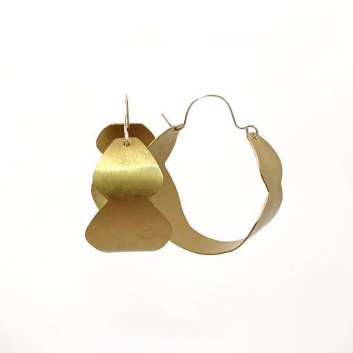 Vessel Brass Hoop Earrings