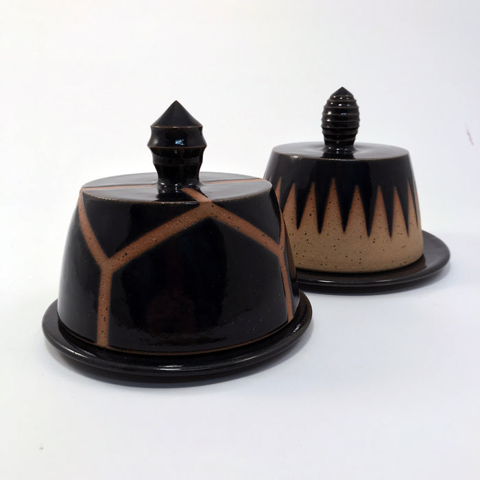 Graphic Navy Butter Dishes