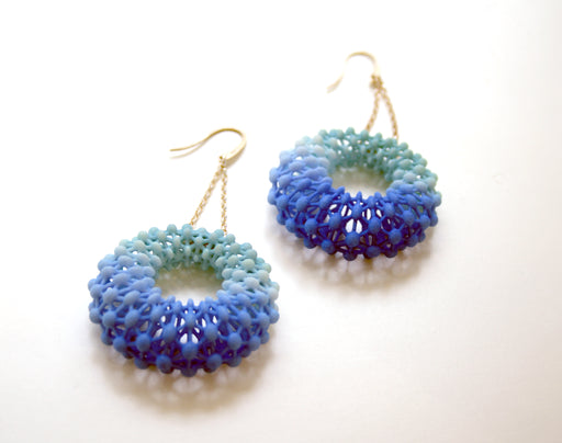 Round Lace Earrings