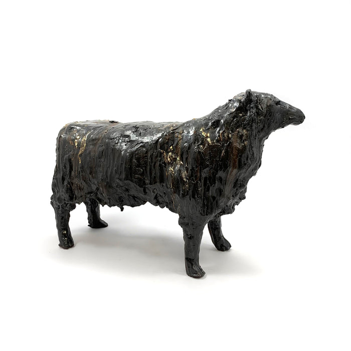 Large Black Sheep Sculpture