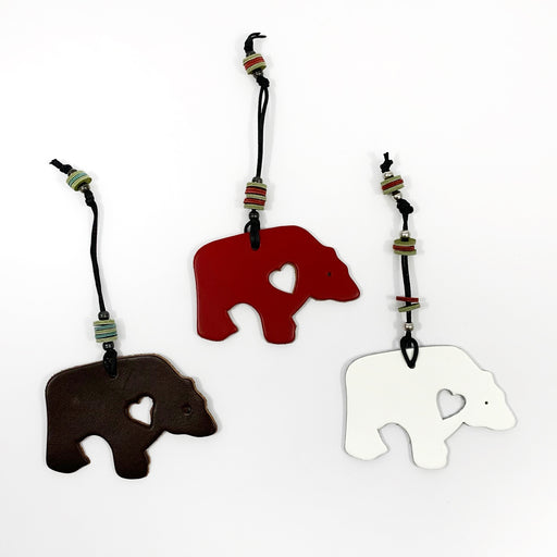 Grizzly Bear Love Ornaments