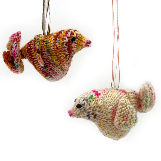 Knit Birdie Ornaments
