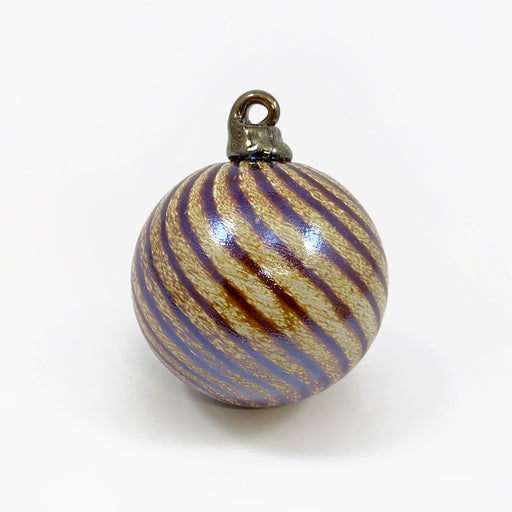 Butterscotch Swirl Glass Ornament