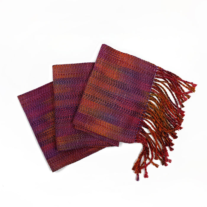 Woven Silk Scarf with Fringe