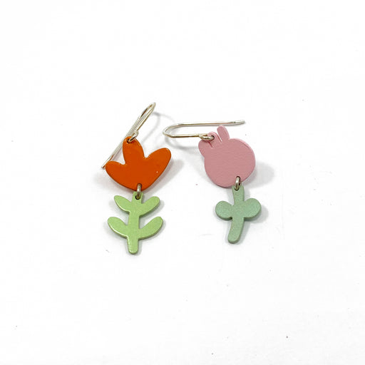Hanging Flower Charm Earrings