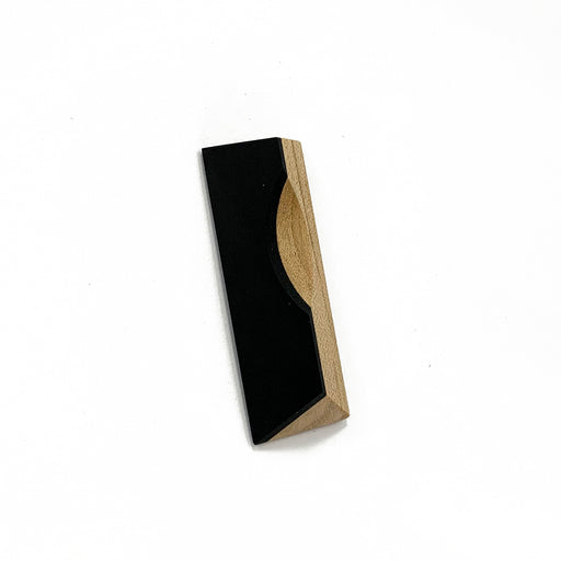 Maple and Black Resin Brooch