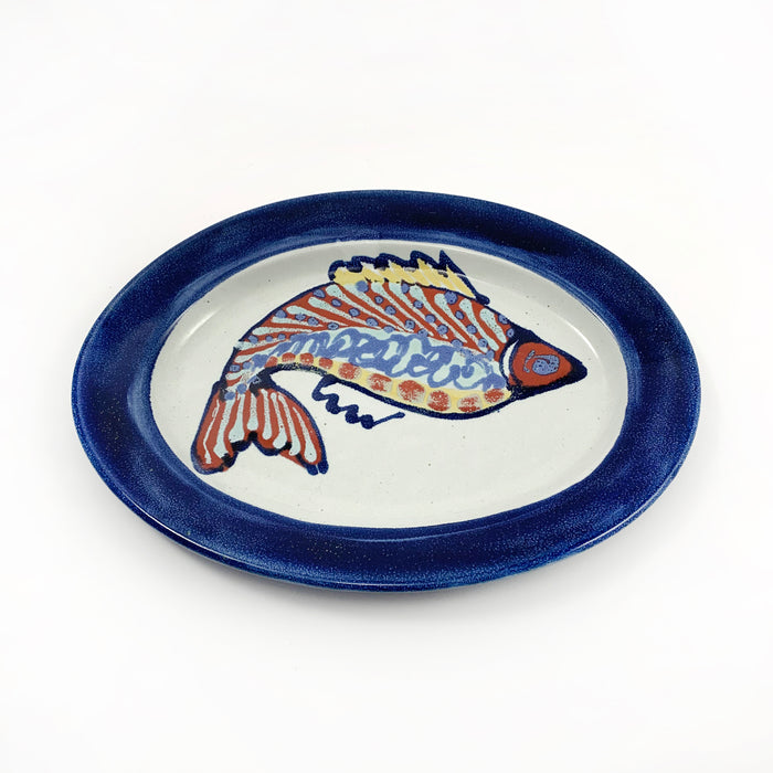 Fish Pattern Oval Plate