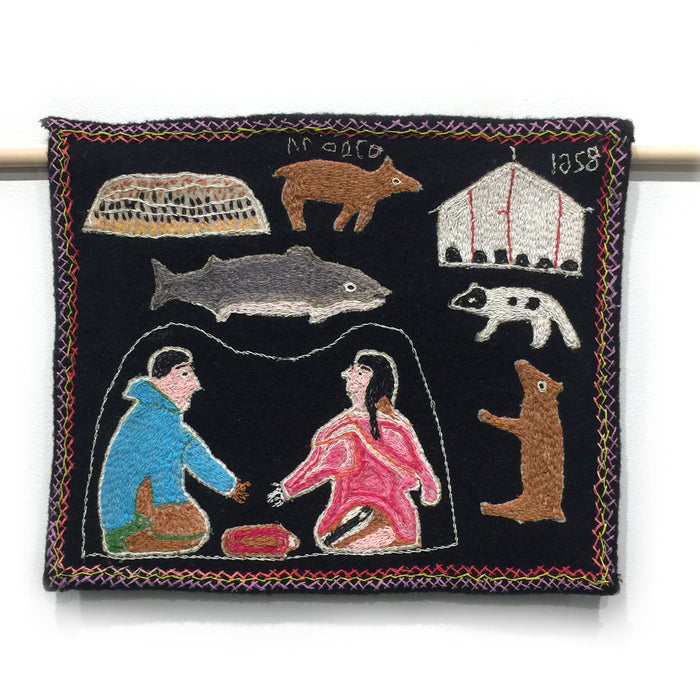 Inuit Life Wallhanging (Untitled)