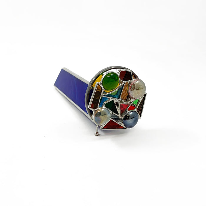 Stained Glass Kaleidoscope - Blue