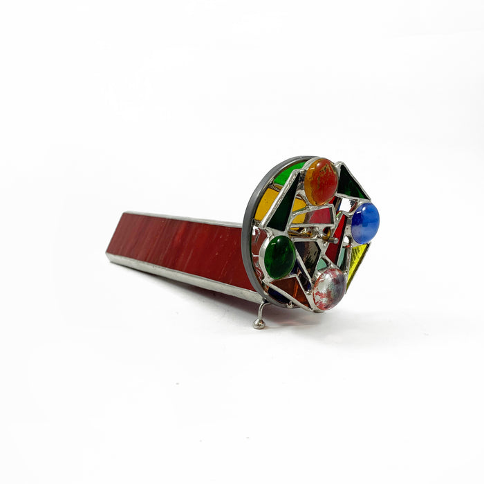Stained Glass Kaleidoscope - Red