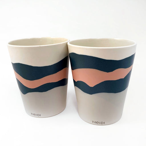 Layered Tumblers in Retro Colours