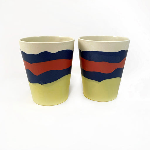 Layered Tumblers in Primary Colours