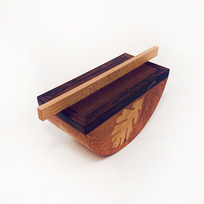 Oak Leaf Inlay Box