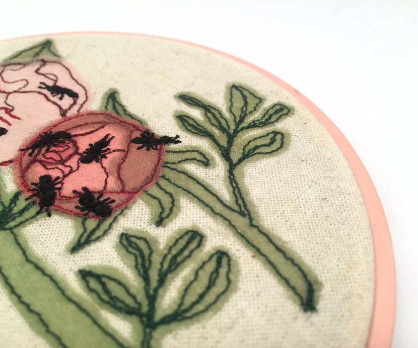Small Embroidered Wall Hanging by Julianna Schertzer