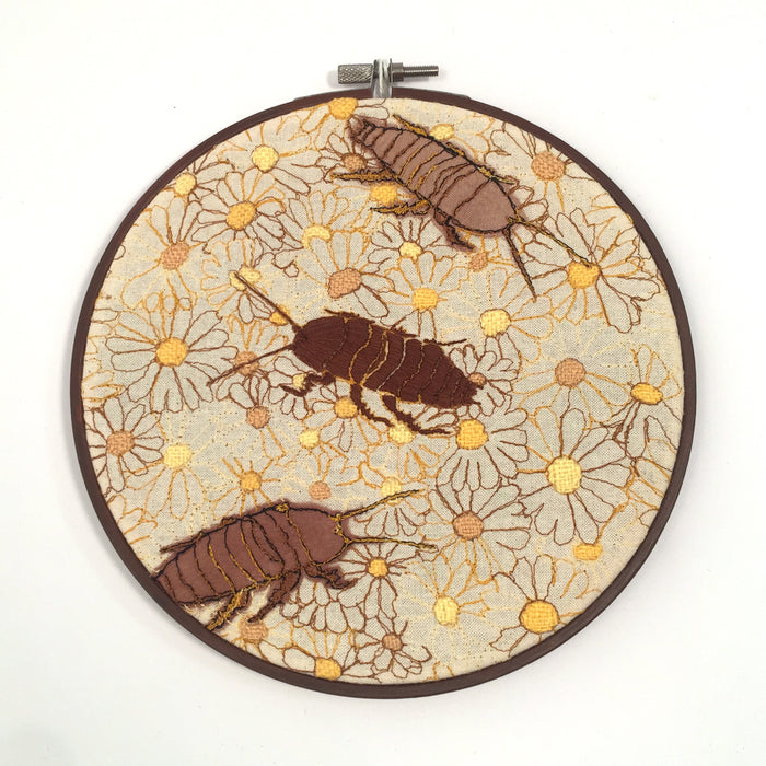 Embroidered Wall Hanging by Julianna Schertzer