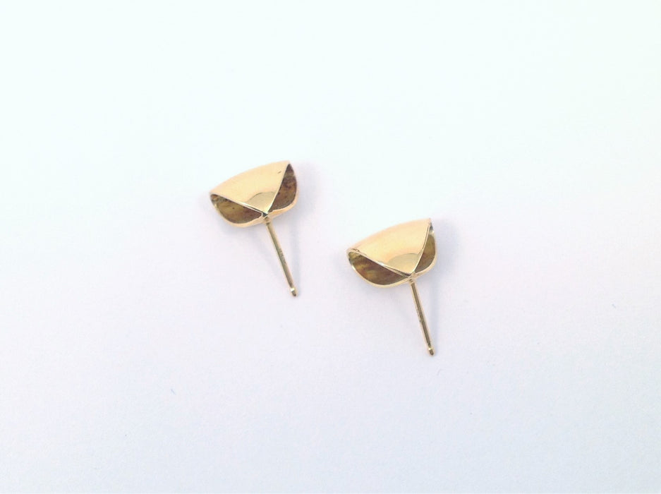Puffed Triangle Stud Earrings by Margaret Lim