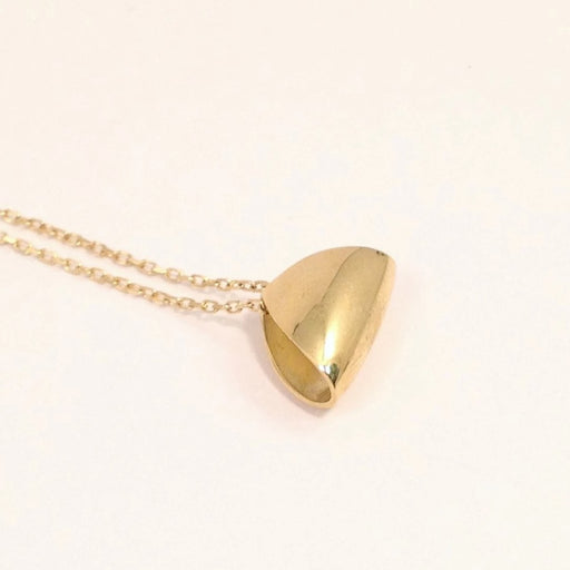 Gold Puffed Triangle Pendant by Margaret Lim