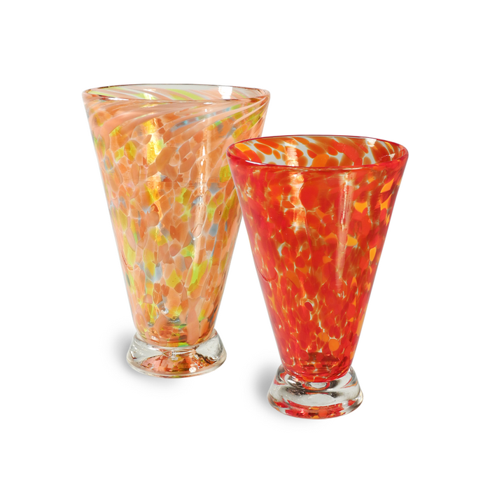 Bright Speckled Fluted Cups