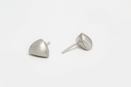 Small Puffed Triangle Earring by Margaret Lim