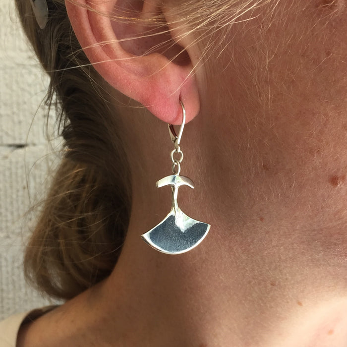 Large Ulu Earrings by Mathew Nuqingak
