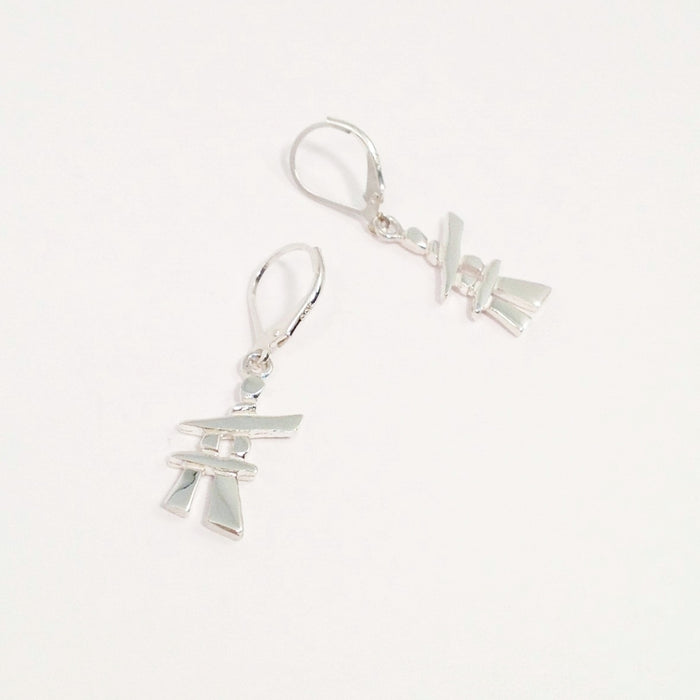 Inukshuk Earrings by Mathew Nuqingaq