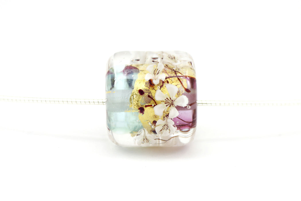 Isle of Apples Glass Bead Collar Necklace by Natalie Borghese