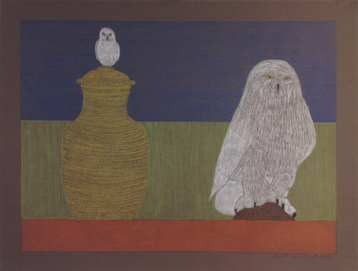 (Owls and Vase)