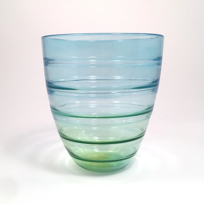 Green-blue Fade Fresnel Glass Bowl by Rob Raeside